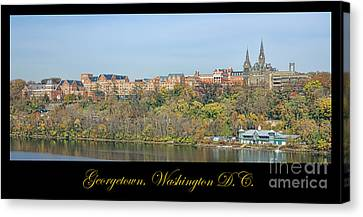 Georgetown Poster Canvas Print by Olivier Le Queinec