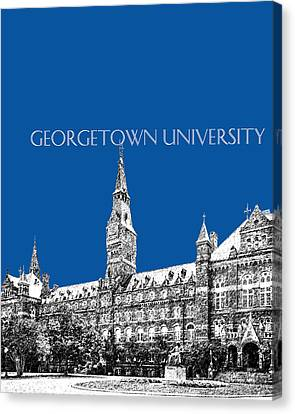 Georgetown University - Royal Blue Canvas Print by DB Artist