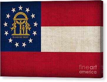Georgia State Flag Canvas Print by Pixel Chimp