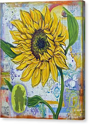 Georgia Sunflower Canvas Print by Random Act aka Andrea LaHue