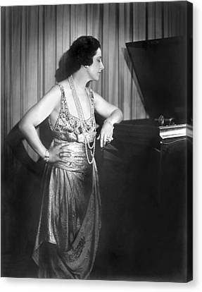 Geraldine Farrar Listening Canvas Print by Underwood Archives