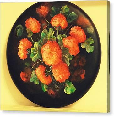 Geraniums Canvas Print by Patricia Rachidi