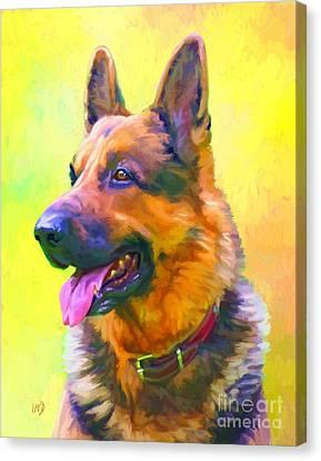 German Shepherd Portrait Canvas Print by Iain McDonald