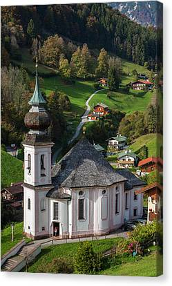 Germany, Bavaria, Maria Gern Village Canvas Print by Walter Bibikow