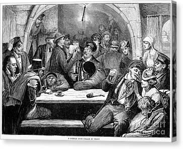 Germany: Beer Cellar, 1875 Canvas Print by Granger