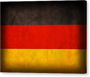 Germany Flag Vintage Distressed Finish Canvas Print by Design Turnpike