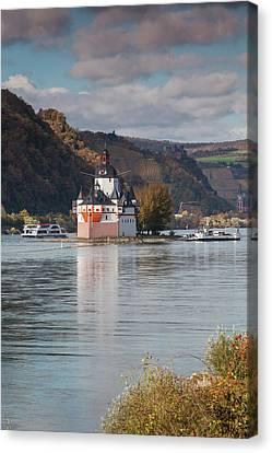 Germany, Rheinland-pfalz, Kaub Canvas Print by Walter Bibikow