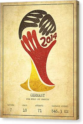 Germany World Cup Champion Canvas Print by Aged Pixel