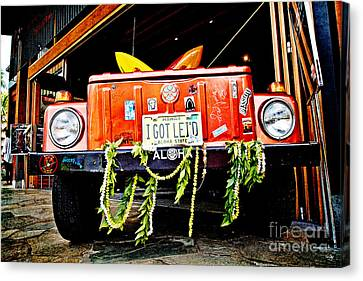 Get Lei'd Canvas Print by Scott Pellegrin