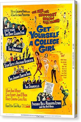 Get Yourself A College Girl, Us Poster Canvas Print by Everett