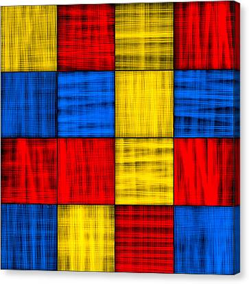Getting Lost At The Intersection - Abstract Canvas Print by Mark E Tisdale