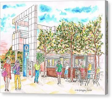 Getty Center Coffee Shop - Los-angeles - California Canvas Print by Carlos G Groppa