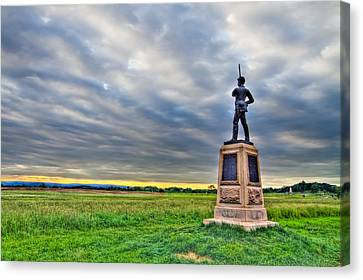 Gettysburg Battlefield Soldier Never Rests Canvas Print by Andres Leon