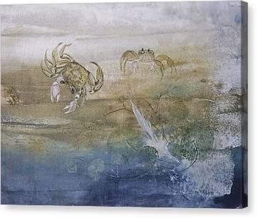 Ghost Crab Canvas Print by Nancy Gorr