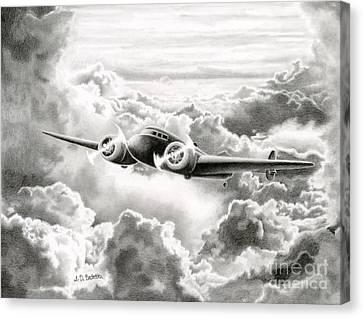 Ghost Flight- Amelia Earhart Canvas Print by Sarah Batalka