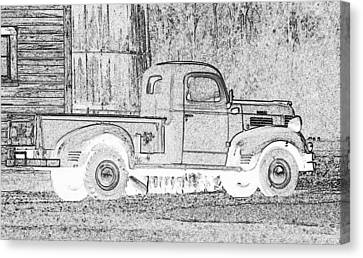 Ghost Of A Truck Canvas Print by Jean Noren