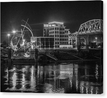 Ghost Of East Bank Reflecting In Water Canvas Print by Robert Hebert