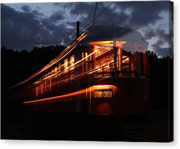 Ghost Of Trolleys Past I Canvas Print by Jim Poulos