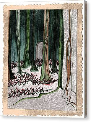 Ghost Stories Forest Graveyard By Jrr Canvas Print by First Star Art