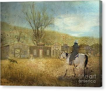 Ghost Town #1 Canvas Print by Betty LaRue