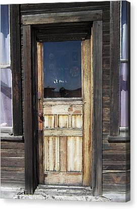 Ghost Town Handcrafted Door Canvas Print by Daniel Hagerman