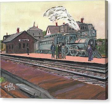Ghost Train Canvas Print by Cliff Wilson