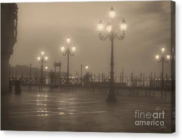 Ghostly Photographers In Venice Canvas Print by Prints of Italy