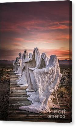 Ghosts At Sunset Canvas Print by Janis Knight