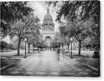 Ghosts Of The Texas State Capitol - Austin Texas Skyline Canvas Print by Silvio Ligutti