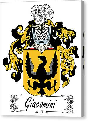 Giacomini Coat Of Arms Di Firenze Canvas Print by Heraldry