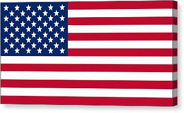Giant American Flag Canvas Print by Ron Hedges