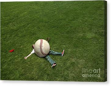 Giant Baseball Canvas Print by Diane Diederich