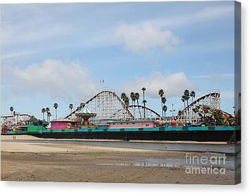 Giant Dipper At The Santa Cruz Beach Boardwalk California 5d23709 Canvas Print by Wingsdomain Art and Photography
