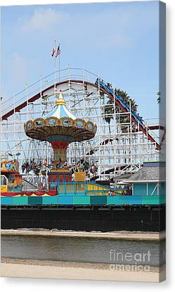 Giant Dipper At The Santa Cruz Beach Boardwalk California 5d23721 Canvas Print by Wingsdomain Art and Photography