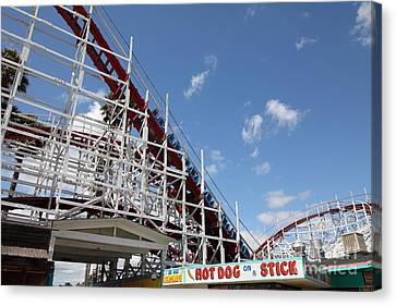Giant Dipper At The Santa Cruz Beach Boardwalk California 5d23883 Canvas Print by Wingsdomain Art and Photography
