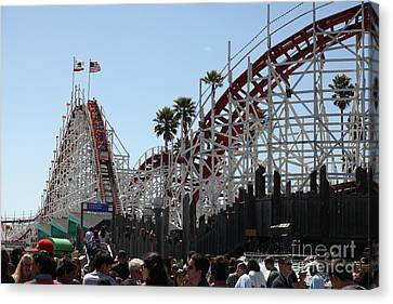 Giant Dipper At The Santa Cruz Beach Boardwalk California 5d23930 Canvas Print by Wingsdomain Art and Photography