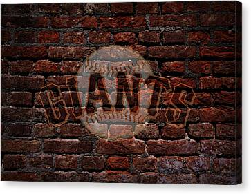 Giants Baseball Graffiti On Brick  Canvas Print by Movie Poster Prints