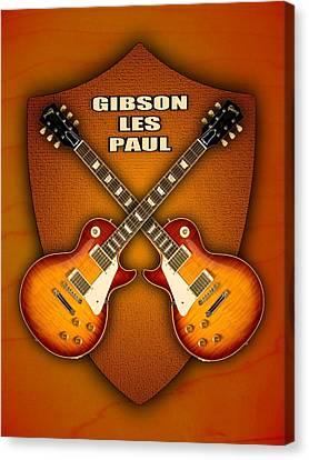 Gibson Les Paul Standart  Shield Canvas Print by Doron Mafdoos