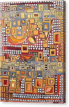 Mosaic Relationship Canvas Print by Agnes Roman