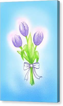 Gift Canvas Print by Keiko Katsuta