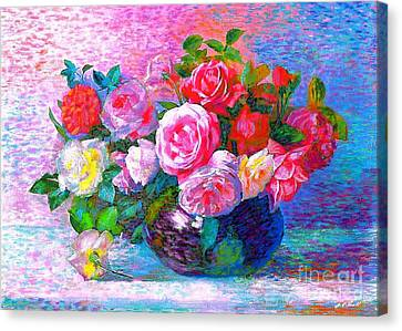 Gift Of Roses Canvas Print by Jane Small