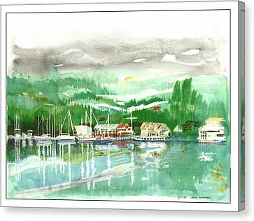 Gig Harbor Waterfront Canvas Print by Jack Pumphrey