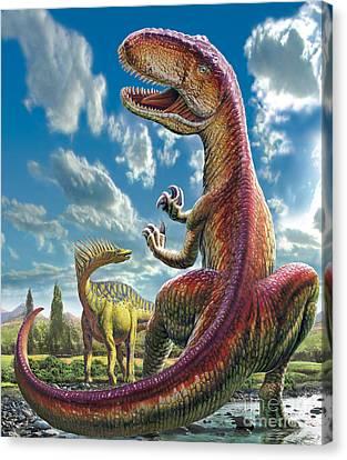 Gigantosaurus Canvas Print by Adrian Chesterman