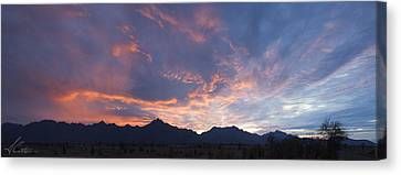 Gila River Indian Sunset Pano Canvas Print by Anthony Citro