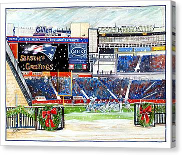 Gillette Holidays Canvas Print by Dave Olsen