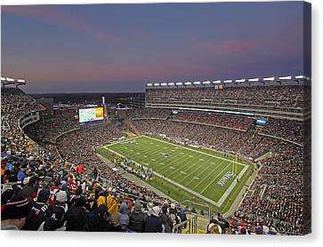 Gillette Stadium And New England Patriots Canvas Print by Juergen Roth