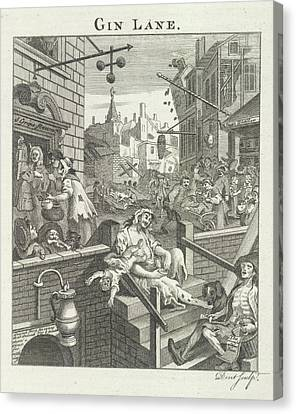 Gin Lane Canvas Print by British Library