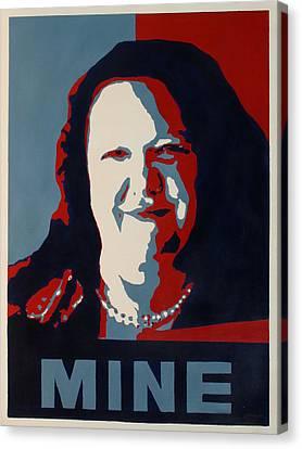Gina Minehard Canvas Print by Lyndsey Hatchwell