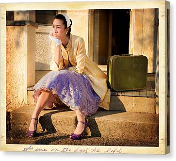 Gina On The Day Al Left Canvas Print by Theresa Tahara