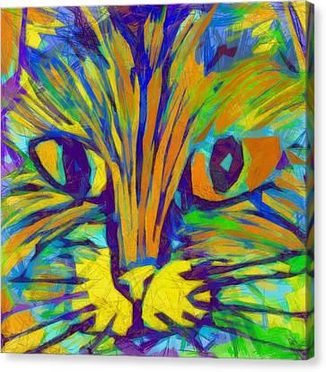 Ginger Kitty Canvas Print by Michelle Calkins